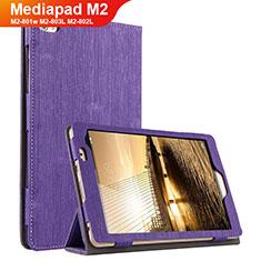 Etui Clapet Portefeuille Livre Tissu pour Huawei Mediapad M2 8 M2-801w M2-803L M2-802L Violet