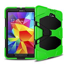 Etui Contour Silicone et Plastique Mat avec Support pour Samsung Galaxy Tab A6 10.1 SM-T580 SM-T585 Vert