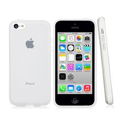 Etui Contour Silicone et Vitre Transparente Mat pour Apple iPhone 5C Blanc