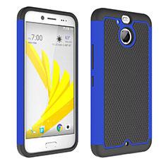 Etui Contour Silicone et Vitre Transparente Mat pour HTC Bolt Bleu