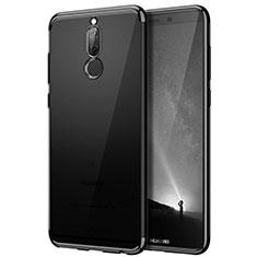 Etui Contour Silicone et Vitre Transparente Mat pour Huawei Mate 10 Lite Noir