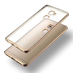 Etui Contour Silicone et Vitre Transparente Mat pour Huawei Mate S Or