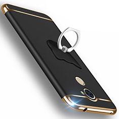 Etui Luxe Aluminum Metal pour Huawei Enjoy 7 Plus Noir
