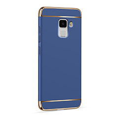 Etui Luxe Aluminum Metal pour Huawei Honor 7 Bleu