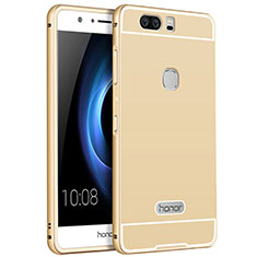 Etui Luxe Aluminum Metal pour Huawei Honor V8 Or