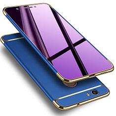 Etui Luxe Aluminum Metal pour Huawei Nova Bleu