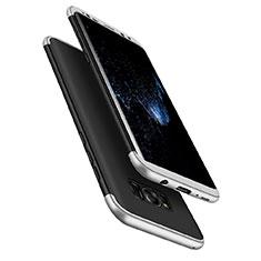 Etui Plastique Mat Protection Integrale 360 Degres Avant et Arriere M03 pour Samsung Galaxy S8 Argent