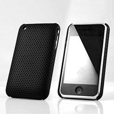 Etui Plastique Rigide Mailles Filet pour Apple iPhone 3G 3GS Noir