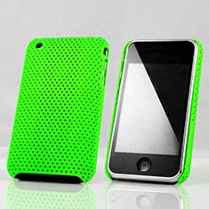 Etui Plastique Rigide Mailles Filet pour Apple iPhone 3G 3GS Vert