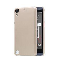 Etui Plastique Rigide Mailles Filet pour HTC Desire 630 Or