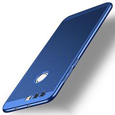 Etui Plastique Rigide Mailles Filet pour Huawei Honor 8 Bleu