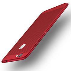 Etui Plastique Rigide Mailles Filet pour Huawei Nova Rouge