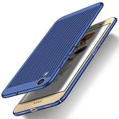 Etui Plastique Rigide Mailles Filet pour Huawei Y6 II 5.5 Bleu