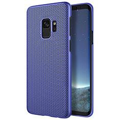 Etui Plastique Rigide Mailles Filet pour Samsung Galaxy S9 Bleu