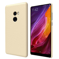 Etui Plastique Rigide Mailles Filet pour Xiaomi Mi Mix 2 Or