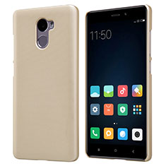 Etui Plastique Rigide Mailles Filet pour Xiaomi Redmi 4 Standard Edition Or