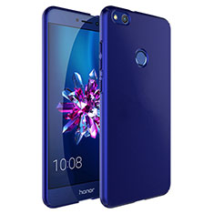 Etui Plastique Rigide Mat et Support Bague Anneau pour Huawei Honor 8 Lite Bleu