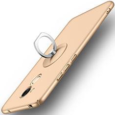 Etui Plastique Rigide Mat et Support Bague Anneau pour Huawei Honor V9 Play Or