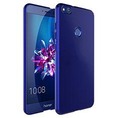 Etui Plastique Rigide Mat et Support Bague Anneau pour Huawei P8 Lite (2017) Bleu