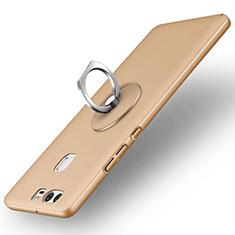 Etui Plastique Rigide Mat et Support Bague Anneau pour Huawei P9 Plus Or