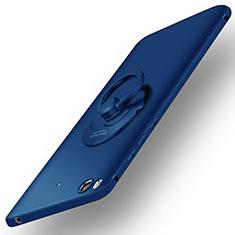 Etui Plastique Rigide Mat et Support Bague Anneau pour Xiaomi Mi 5S Bleu