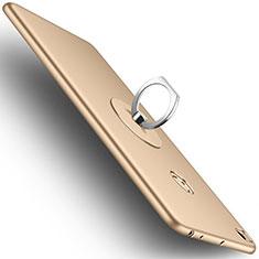 Etui Plastique Rigide Mat et Support Bague Anneau pour Xiaomi Mi Max 2 Or