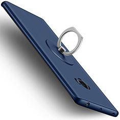 Etui Plastique Rigide Mat et Support Bague Anneau pour Xiaomi Mi Note 2 Bleu