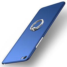 Etui Plastique Rigide Mat et Support Bague Anneau pour Xiaomi Mi Note Bleu