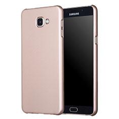 Etui Plastique Rigide Mat M01 pour Samsung Galaxy A7 (2017) A720F Or