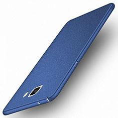 Etui Plastique Rigide Mat M01 pour Samsung Galaxy A9 Pro (2016) SM-A9100 Bleu