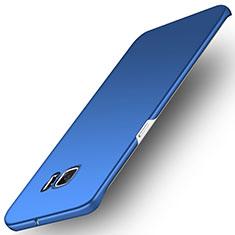 Etui Plastique Rigide Mat M01 pour Samsung Galaxy S6 Edge SM-G925 Bleu