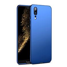Etui Plastique Rigide Mat M02 pour Huawei P20 Bleu