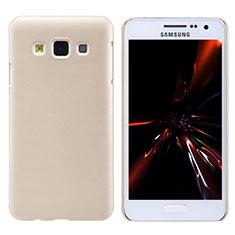Etui Plastique Rigide Mat M02 pour Samsung Galaxy A3 Duos SM-A300F Or