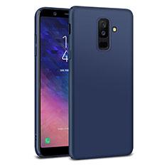Etui Plastique Rigide Mat M02 pour Samsung Galaxy A6 Plus (2018) Bleu