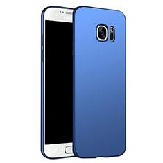 Etui Plastique Rigide Mat M02 pour Samsung Galaxy S6 Duos SM-G920F G9200 Bleu