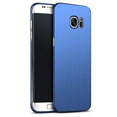 Etui Plastique Rigide Mat M02 pour Samsung Galaxy S6 Edge+ Plus SM-G928F Bleu