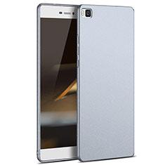 Etui Plastique Rigide Mat M03 pour Huawei P8 Argent