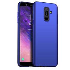 Etui Plastique Rigide Mat M03 pour Samsung Galaxy A6 Plus (2018) Bleu