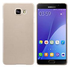 Etui Plastique Rigide Mat M03 pour Samsung Galaxy A7 (2016) A7100 Or