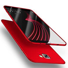 Etui Plastique Rigide Mat M03 pour Samsung Galaxy A9 Pro (2016) SM-A9100 Rouge