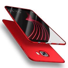 Etui Plastique Rigide Mat M03 pour Samsung Galaxy C7 SM-C7000 Rouge