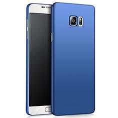 Etui Plastique Rigide Mat M03 pour Samsung Galaxy Note 5 N9200 N920 N920F Bleu