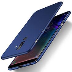 Etui Plastique Rigide Mat M04 pour Samsung Galaxy A6 Plus (2018) Bleu
