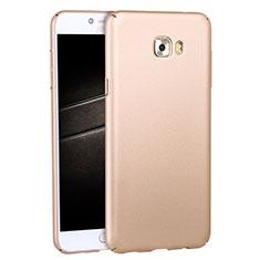 Etui Plastique Rigide Mat M04 pour Samsung Galaxy C7 Pro C7010 Or