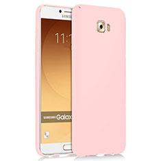 Etui Plastique Rigide Mat M04 pour Samsung Galaxy C9 Pro C9000 Rose