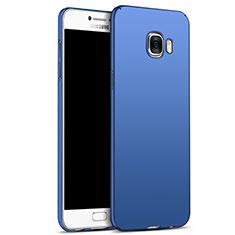 Etui Plastique Rigide Mat M05 pour Samsung Galaxy C7 SM-C7000 Bleu