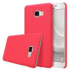 Etui Plastique Rigide Mat M08 pour Samsung Galaxy C5 SM-C5000 Rouge