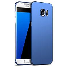 Etui Plastique Rigide Mat M09 pour Samsung Galaxy S7 Edge G935F Bleu