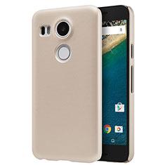 Etui Plastique Rigide Mat P01 pour Google Nexus 5X Or