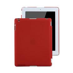 Etui Plastique Rigide Mat pour Apple iPad 4 Rouge